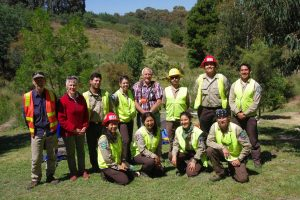 The California Conservation Corps team and Friends volunteers